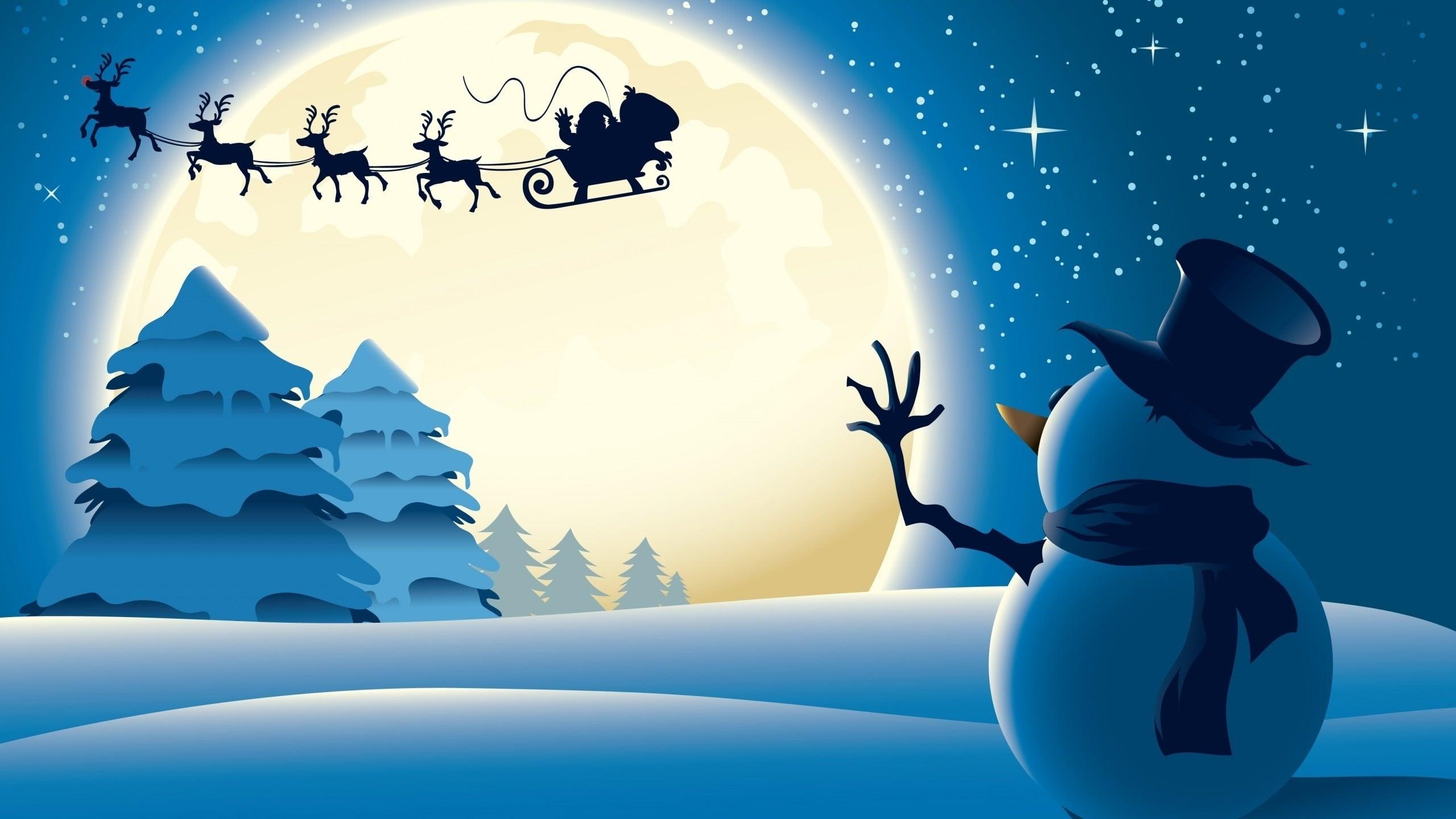 christmas-Santa-Claus-The-Reindeer-Sleigh-Rider-of-Sky